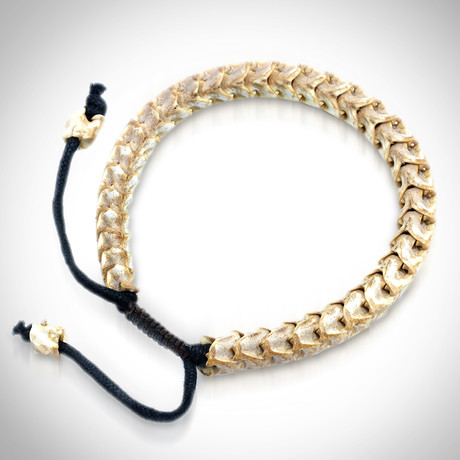 Rattlesnake Authentic Bone Bracelets (White)