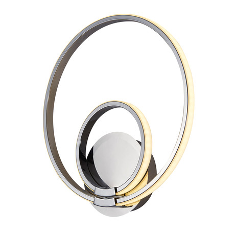 Modern Circles // Double LED Wall Sconce