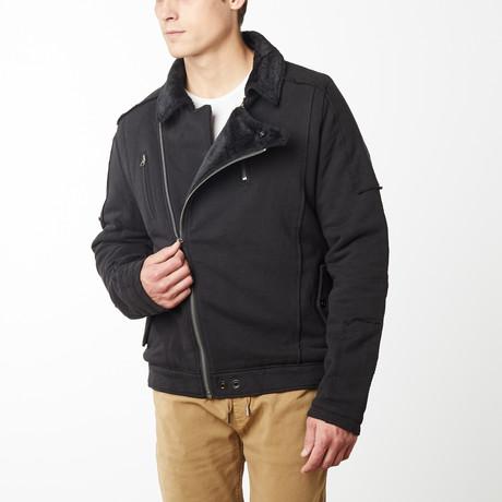 Revolver Moto Jacket // Black (S)