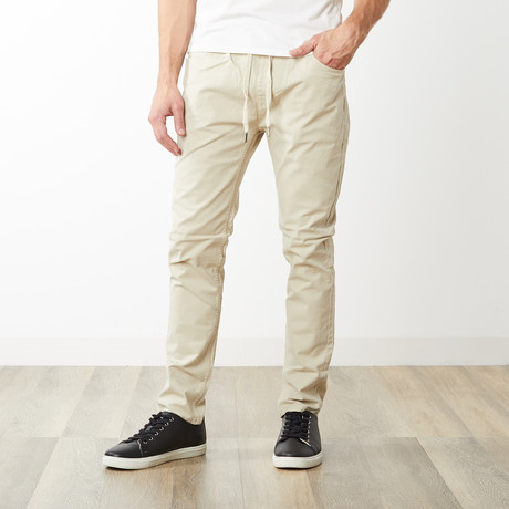 Edwin Dyed Slouch Elastic Waist Pants // Stone (S)