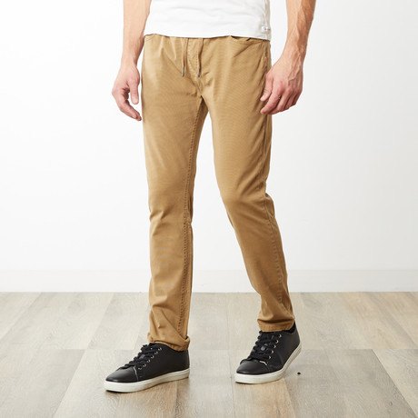 Edwin Dyed Slouch Elastic Waist Pants // Camel (S)