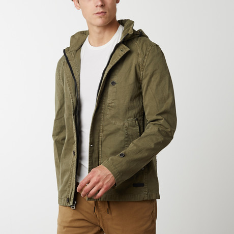 Herman Hooded Military Anorak // Olive (S)