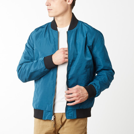 Harley Reversible Light Weight Bomber // Teal (S)