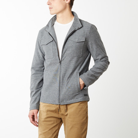 Jerry Cropped Modern Officers Jacket // Heather Gray (S)