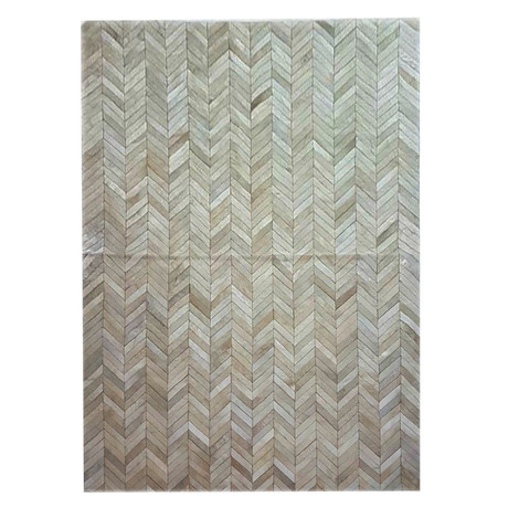 Chevron Rug // Neutral (5'L x 8'W)