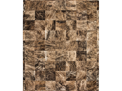 Photo of Cowhide Gallery Luxurious Cowhide Rugs Conga Rug // Arabescato + Laser Pattern by Touch Of Modern