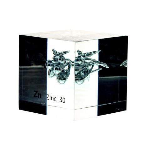Lucite Cube // Zinc