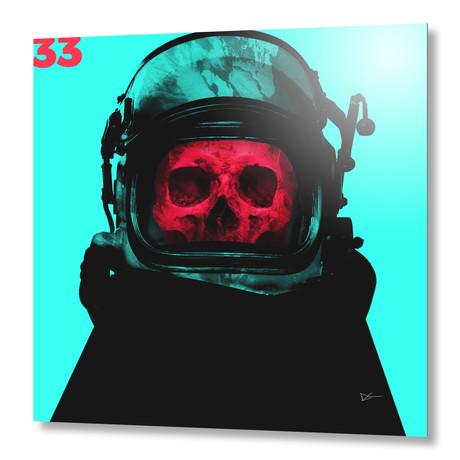 """Space Pirate Cyan // Aluminum Print (16""""W x 16""""H x 1.5""""D)"""