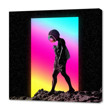 "Moonwalk // Stretched Canvas (16""W x 16""H x 1.5""D)"