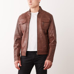 Cedrick Leather Jacket // Copper (S)