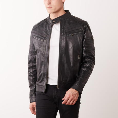 Zachary Leather Jacket // Black (S)