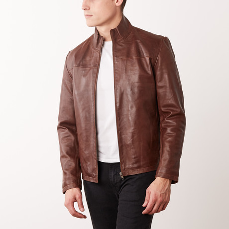 Lorenzo Leather Jacket // Chestnut (S)
