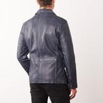 Reggie Leather Jacket // Bluewash (S)