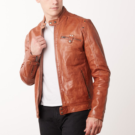 Porter Leather Jacket // Timber (S)