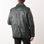 Antony Leather Jacket // Green (S)