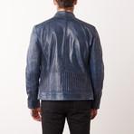 Jerrod Leather Jacket // Navy (S)