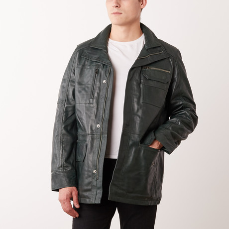 Antony Leather Jacket // Green (S)