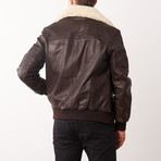 Jody Leather Jacket // Red + Brown (S)