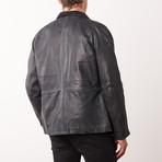 Darwin Leather Jacket // Black Rub-Off (S)