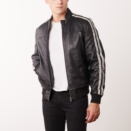 Lenard Leather Jacket // Black (S)