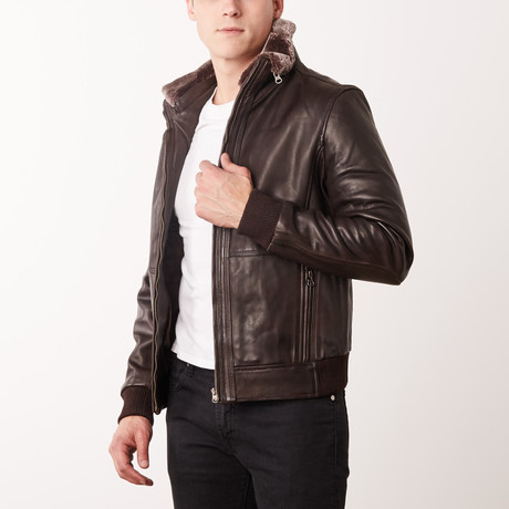 Eldridge Leather Jacket // Brown (S)
