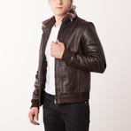 Eldridge Leather Jacket // Brown (S)