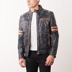 Murray Leather Jacket // Stonewash Black (S)