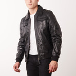 Pedro Leather Jacket // Black (S)