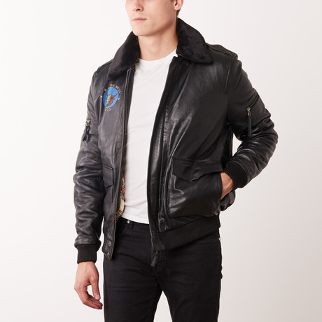 Alfonzo Leather Jacket // Black (S)