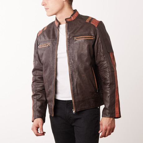 Julian Leather Jacket // Brown (S)