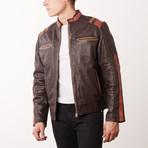 Julian Leather Jacket // Brown (S)