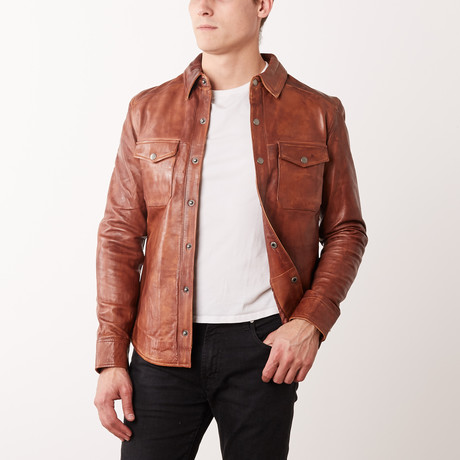 Jacob Leather Jacket // Tan (S)
