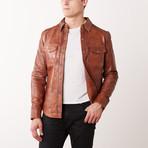 Jacob Leather Jacket // Tan (S)