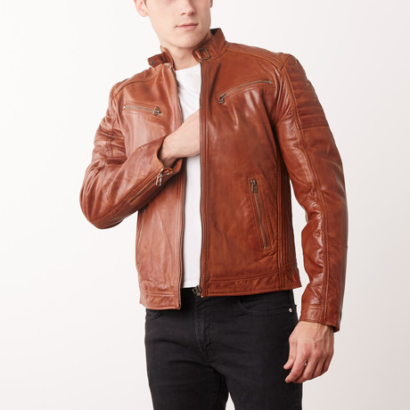 Jamison Leather Jacket // Tan (S)