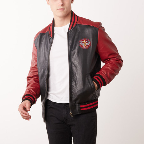 Arnold Leather Jacket // Red + Black (S)