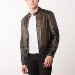 Trinidad Leather Jacket // Olive + Black (S)