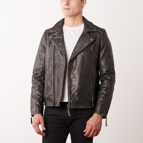Kelly Leather Jacket // Grey Rub-Off (S)
