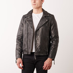 Kelly Leather Jacket // Gray (L)