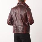 Benton Leather Jacket // Pepsi (S)