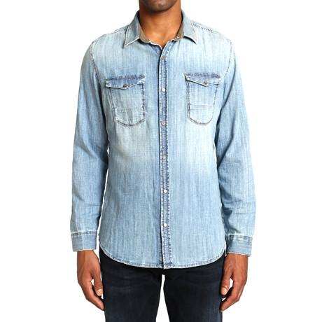 Rio Denim Shirt // LT Camo Vintage (L)