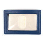 Smooth Leather ID Card Holder Wallet // Bluette