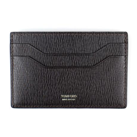 Tom Ford // Leather Card Holder Wallet // Black