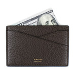 Pebbled Leather Card Holder Wallet // Coyote Brown