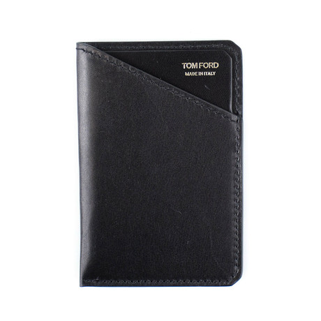 Smooth Leather Card Holder // Black