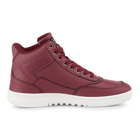 Iconic-Bomber High-Top Sneaker // Burgundy (US: 8)