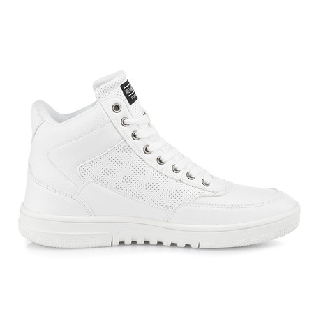 Iconic-Bomber High-Top Sneaker // White (US: 8)