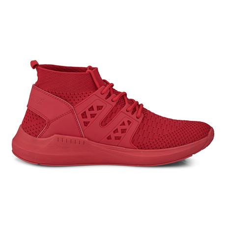 Knit Sock Mono Fashion Sneaker // Red (US: 8)