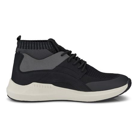 Knit Sock Fabric Mesh Fashion Sneaker // Black (US: 8)