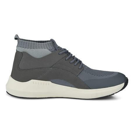 Knit Sock Fabric Mesh Fashion Sneaker // Grey (US: 7)