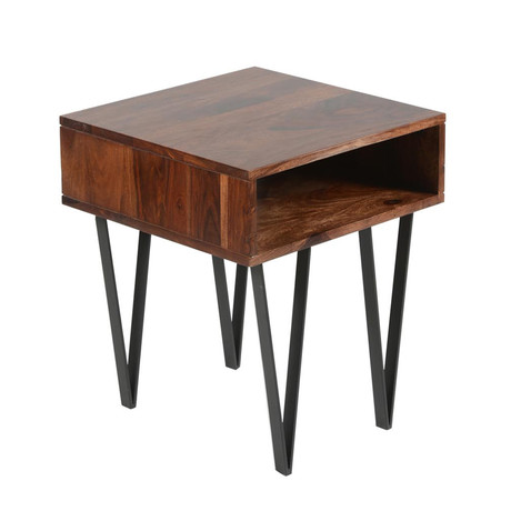 Matrix Side Table // Rosewood
